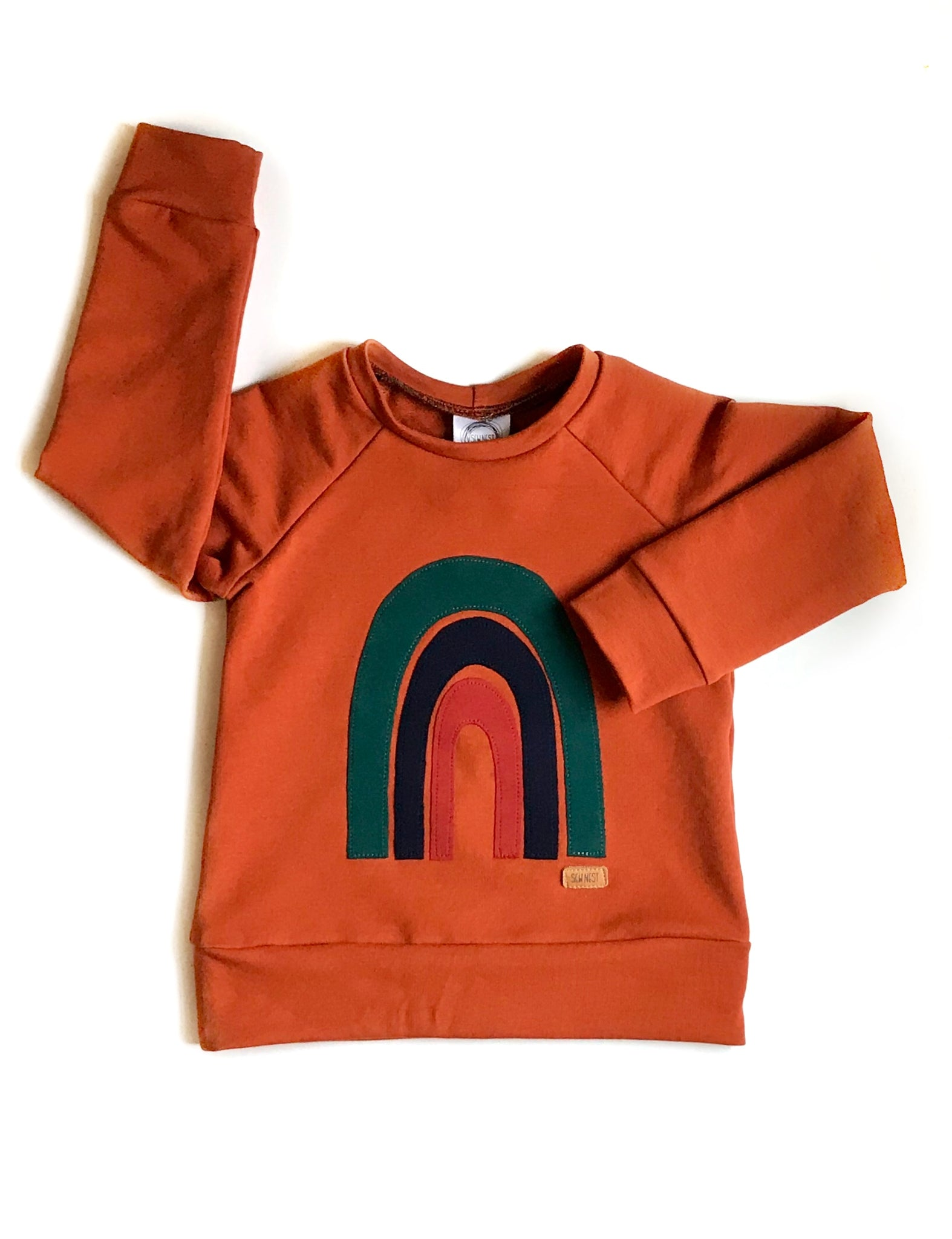Pumpkin Spice Rainbow Sweater