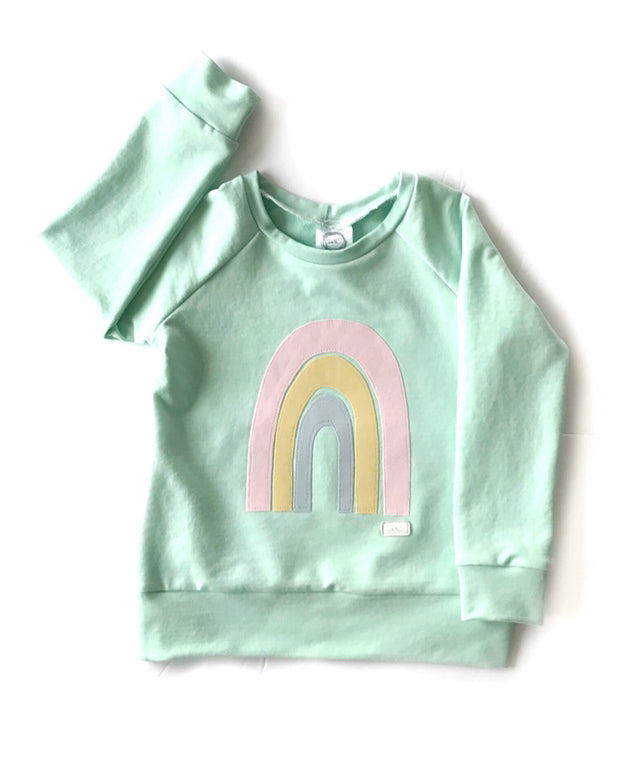 Mint Rainbow Sweater