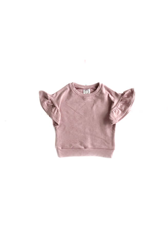 Heathered Pink Flutter Lounge Sweaters