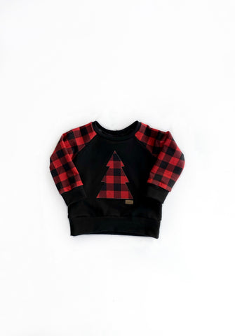 Tree Buffalo Plaid Crewneck