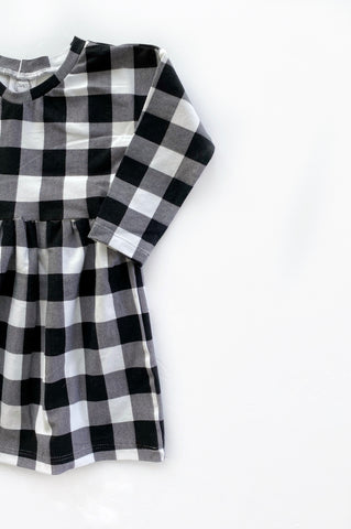 White/Black Plaid Dress