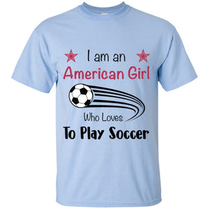 American Girl T-shirt - Light Blue / YXS - T-Shirts