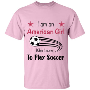 American Girl T-shirt - Light Pink / YXS - T-Shirts