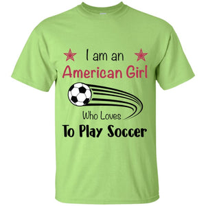American Girl T-shirt - Mint Green / YXS - T-Shirts