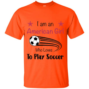 American Girl T-shirt - Orange / YXS - T-Shirts