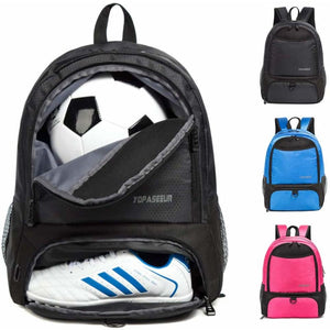 Backpack for Soccer Ball & Cleats - Black - Equipment Bags