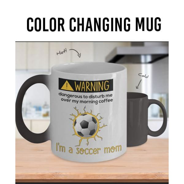Dangerous Soccer Mom Color Changing Mug