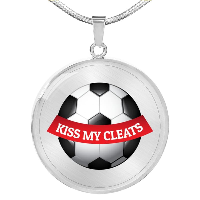 Kiss My Cleats - Luxury Necklace - Luxury Necklace (Silver)