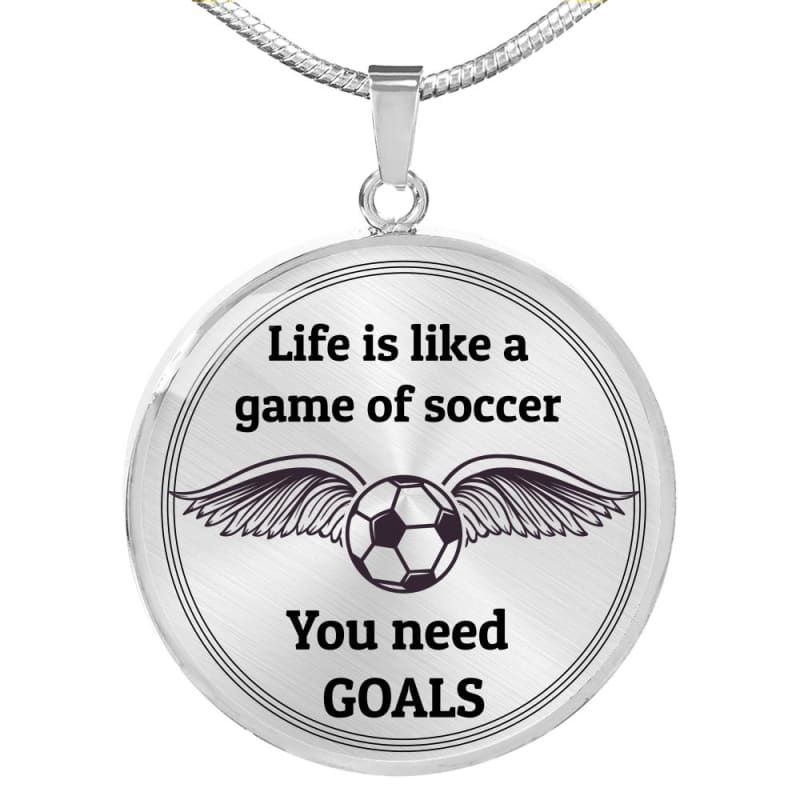 Life is Like a Soccer Game - Luxury Necklace - Luxury
