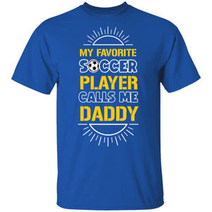 My Favorite Player Dad T-Shirt - Royal / S - T-Shirts