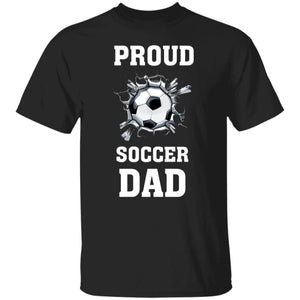Proud Soccer Dad T-Shirt - Black / S - T-Shirts