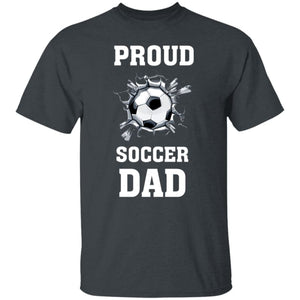 Proud Soccer Dad T-Shirt - Dark Heather / S - T-Shirts