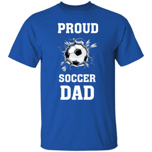 Proud Soccer Dad T-Shirt - Royal / S - T-Shirts