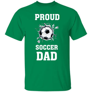 Proud Soccer Dad T-Shirt - Turf Green / S - T-Shirts