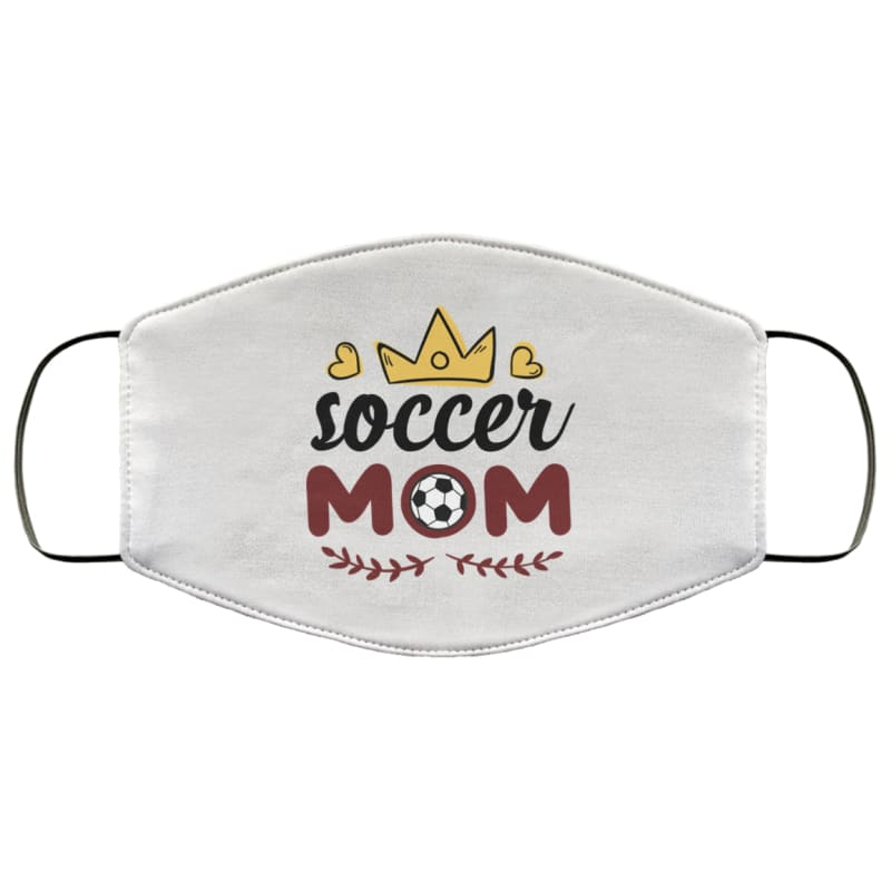 Queen Soccer Mom Face Mask - Accessories