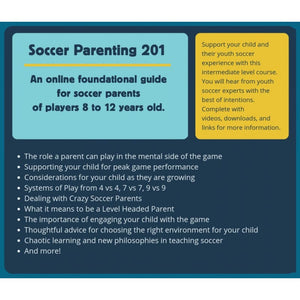 Smart Soccer Parenting - Video Guide - 8 - 12 years