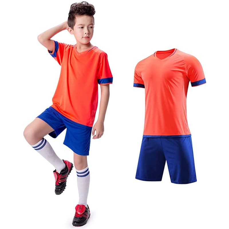 Soccer Set Jerseys + Shorts - 05 Purple / 2XS(Fit Height: