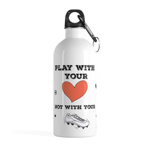 Stainless Steel Water Bottle - Play With Your Heart - 20 oz