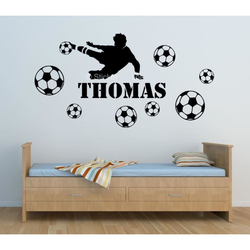 Stickers - Professional Player and Your Kid's Name On The Wall