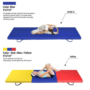 Tri-Fold Exercise Gymnastics Mat with Carrying Handles