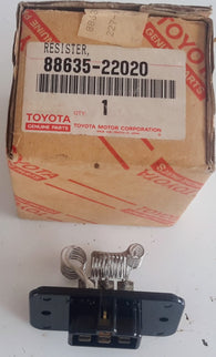 Toyota Part: RESISTOR, HEATER BLOWER / HVAC Blower Motor Resistor 88635-22020 fits 81-84 Toyota Cressida 2.8L-L6