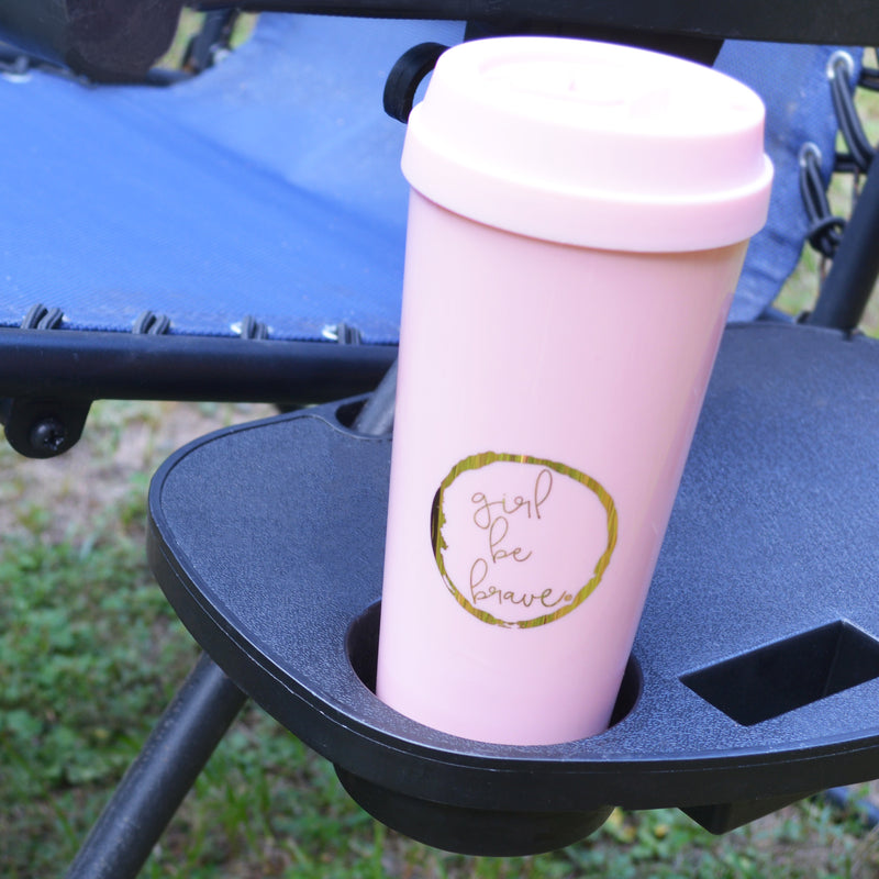 Girl Be Brave Pink Thermal Mug