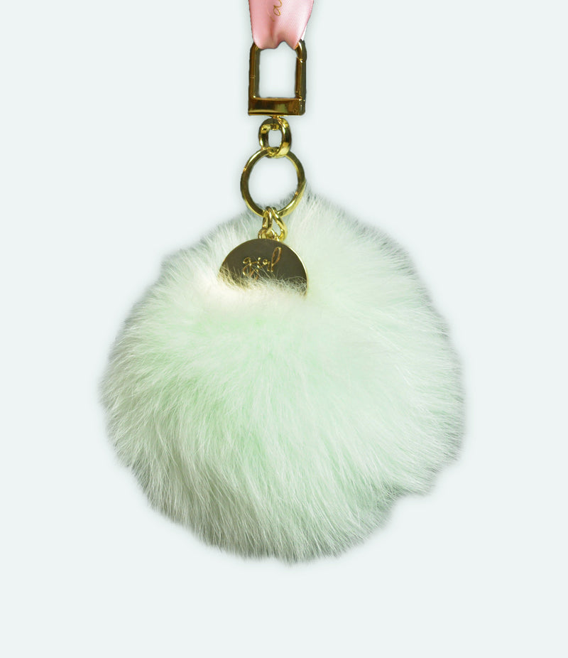 Girl Be Brave Jumbo Fur Keychain
