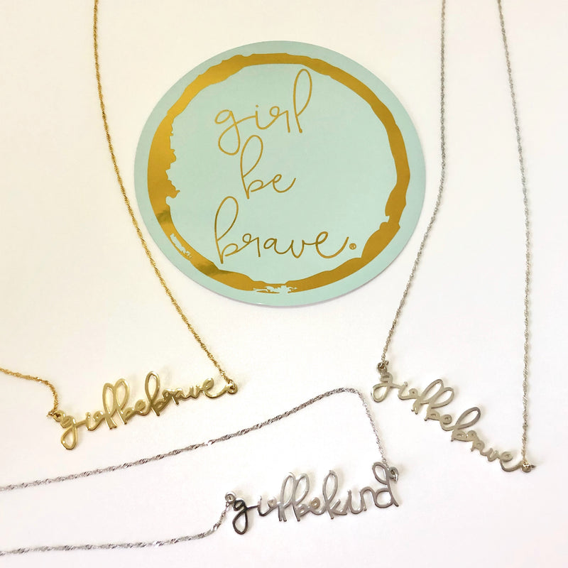 Girl Be Kind Sterling Silver Necklace