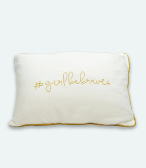 Girl Be Brave Decorative Pillow