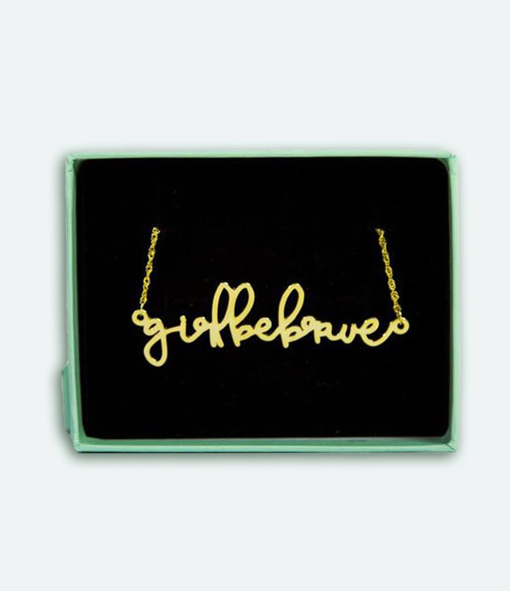 Girl Be Brave Necklace Jewelry Girl Be Brave Gold Plated