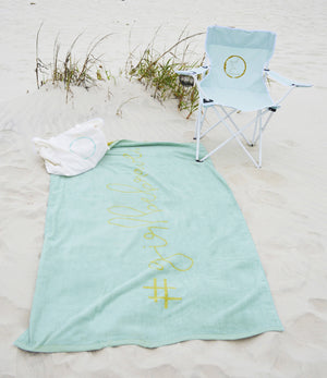 Girl Be Brave Beach Towel