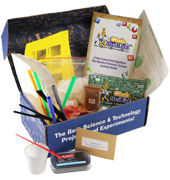 Club SciKidz STEM Box CSI: The World of Forensic Science