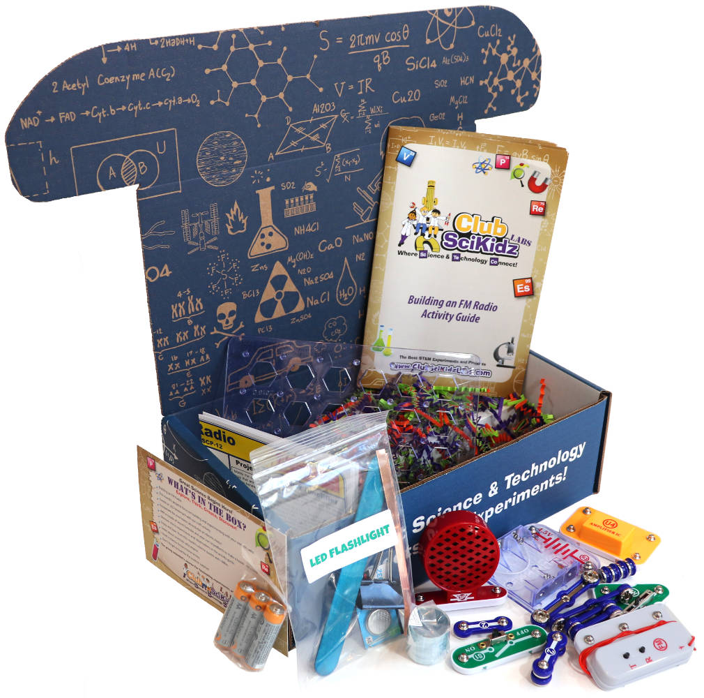 Club SciKidz STEM Box FM Radio Science Kit for Kids