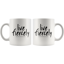 Cute Feminist T Shirt Live Fiercely 11 oz Mug - Everyday Unicorns