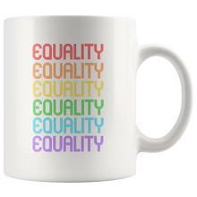 Cute Feminist T Shirt Equality Rainbow 11 oz Mug - Everyday Unicorns
