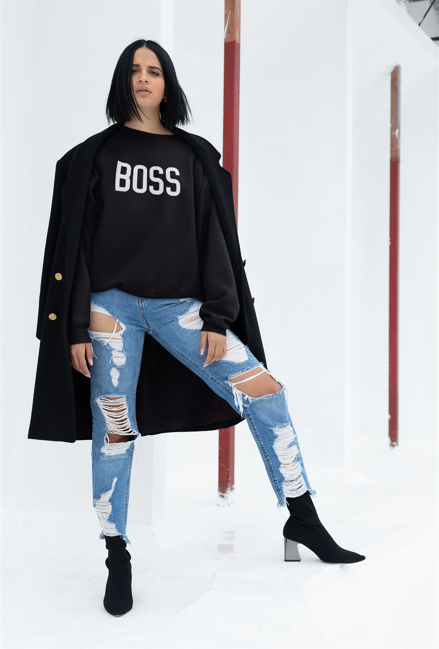 Cute Feminist T Shirt Boss Sweatshirt - Everyday Unicorns