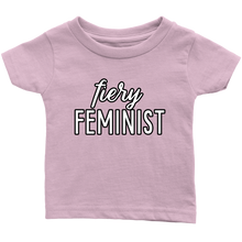 Cute Feminist T Shirt Fiery Feminist Baby Bodysuit, Infant Tee, Toddler Tee, and Kids Tee - Everyday Unicorns