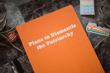 Cute Feminist T Shirt Plans to Dismantle the Patriarchy Paperback Notebook - Everyday Unicorns