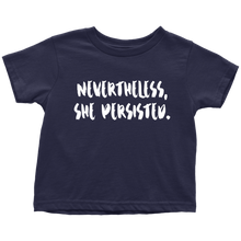 Cute Feminist T Shirt Nevertheless She Persisted Baby Bodysuit, Infant Tee, Toddler Tee, and Kids Tee - Everyday Unicorns