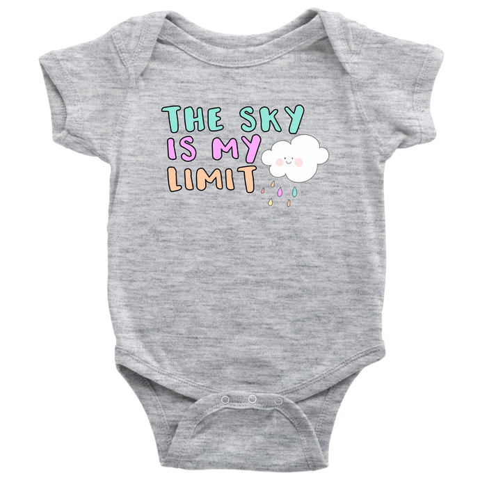 Cute Feminist T Shirt The Sky is My Limit Baby and Kids Tee - Everyday Unicorns