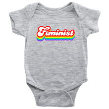 Cute Feminist T Shirt Feminist Rainbow Tee - Kids and Babies Sizes - Everyday Unicorns