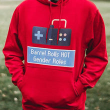 Cute Feminist T Shirt Barrel Rolls Not Gender Roles Unisex Hoodie - Everyday Unicorns