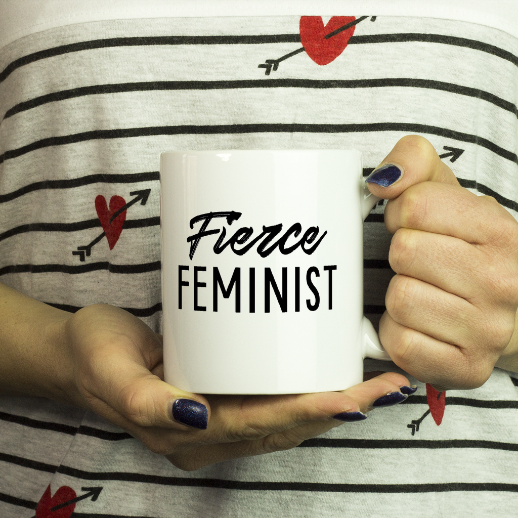 Cute Feminist T Shirt Fierce Feminist 11oz Mug - Everyday Unicorns
