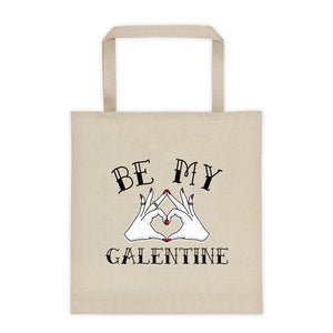Cute Feminist T Shirt Be My Galentine Tote bag - Everyday Unicorns