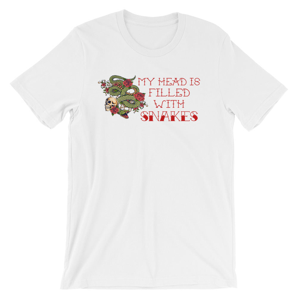 Cute Feminist T Shirt My Head is Filled With Snakes Short-Sleeve Unisex T-Shirt - Everyday Unicorns