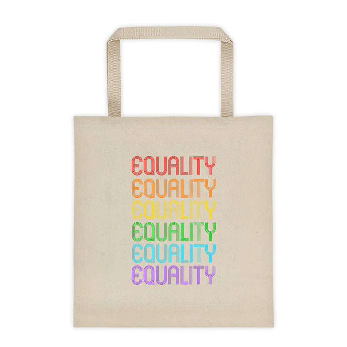 Cute Feminist T Shirt Equality Rainbow Tote bag - Everyday Unicorns