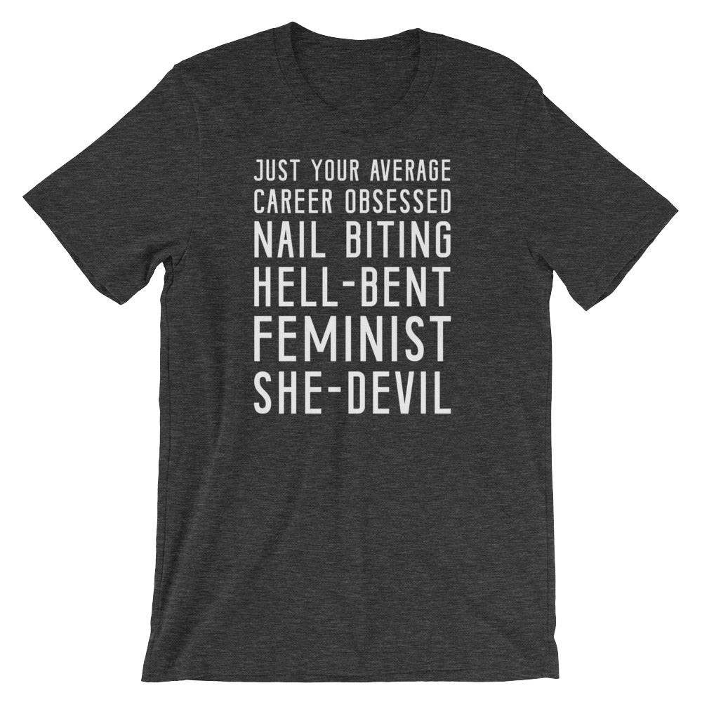 Cute Feminist T Shirt Feminist She Devil Short-Sleeve Unisex T-Shirt - Everyday Unicorns