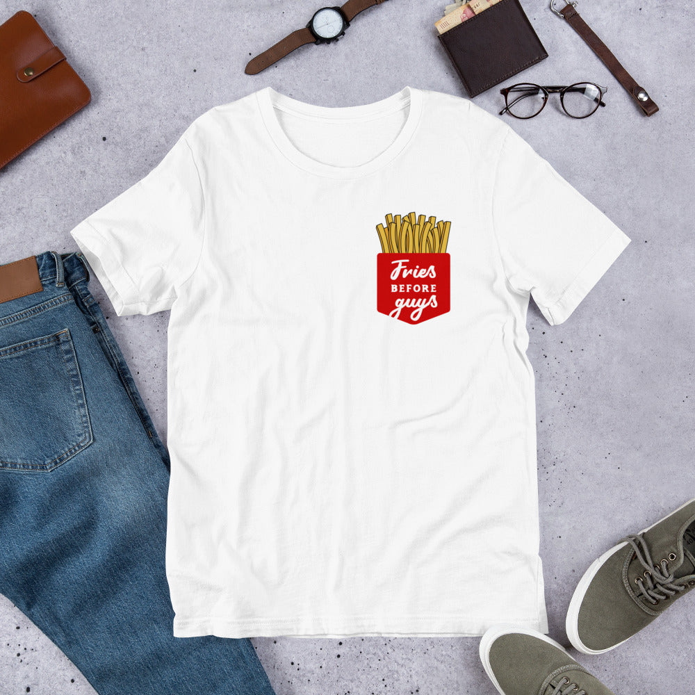 Fries Before Guys Short-Sleeve Unisex T-Shirt