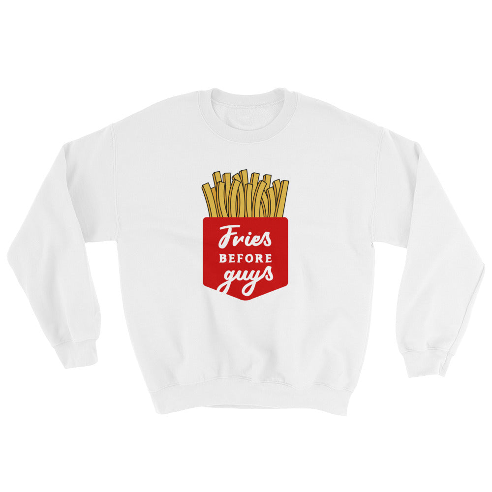 Cute Feminist T Shirt Fries Before Guys Sweatshirt - Everyday Unicorns