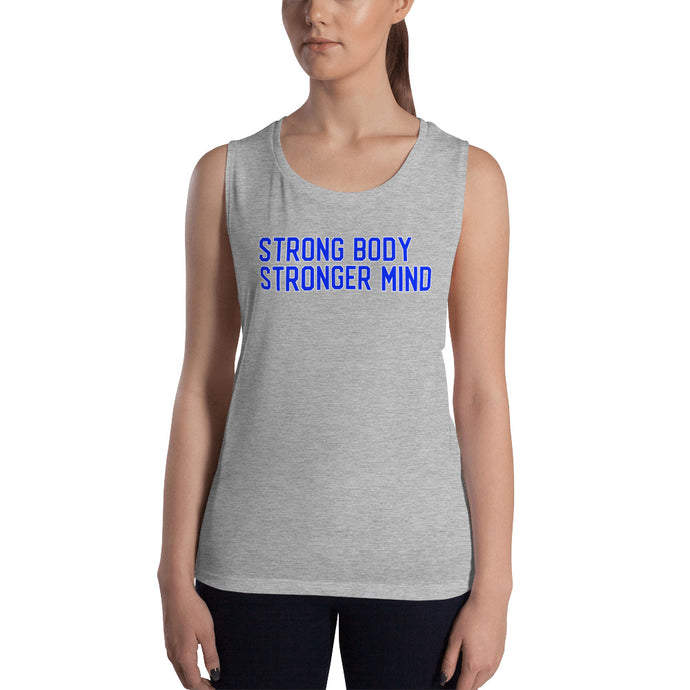 Cute Feminist T Shirt Strong Body Stronger Mind Muscle Tank - Everyday Unicorns